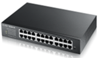 Z-GS1900-24HP  Zyxel 24-Port GbE Smart Managed PoE Switch