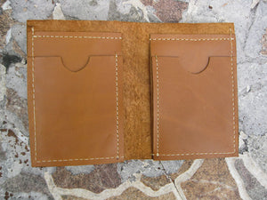 Wallet Baffle in Leather