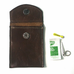 Hearing Aid Batteries Vertical Leather Pouch