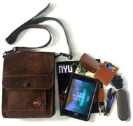 Leather Tablet/I-Pad Cross Body Bag Sirius