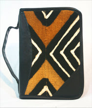 Bible Case in African Authentic Mudcloth and Leather