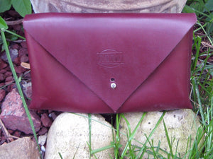 Leather Tablet/I-Pad Ladies' Envelope Clutch Theca