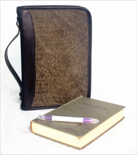 Bible Case in Leather with Printed Scripture Text