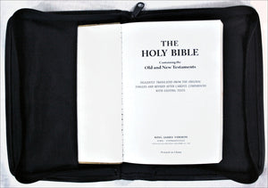 Bible Case in Printed Fabric and Leather