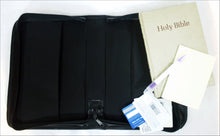 Bible Case with Back Pocket in Fabric and Leather