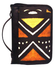 Bible Case in African Mudcloth Print and Leather