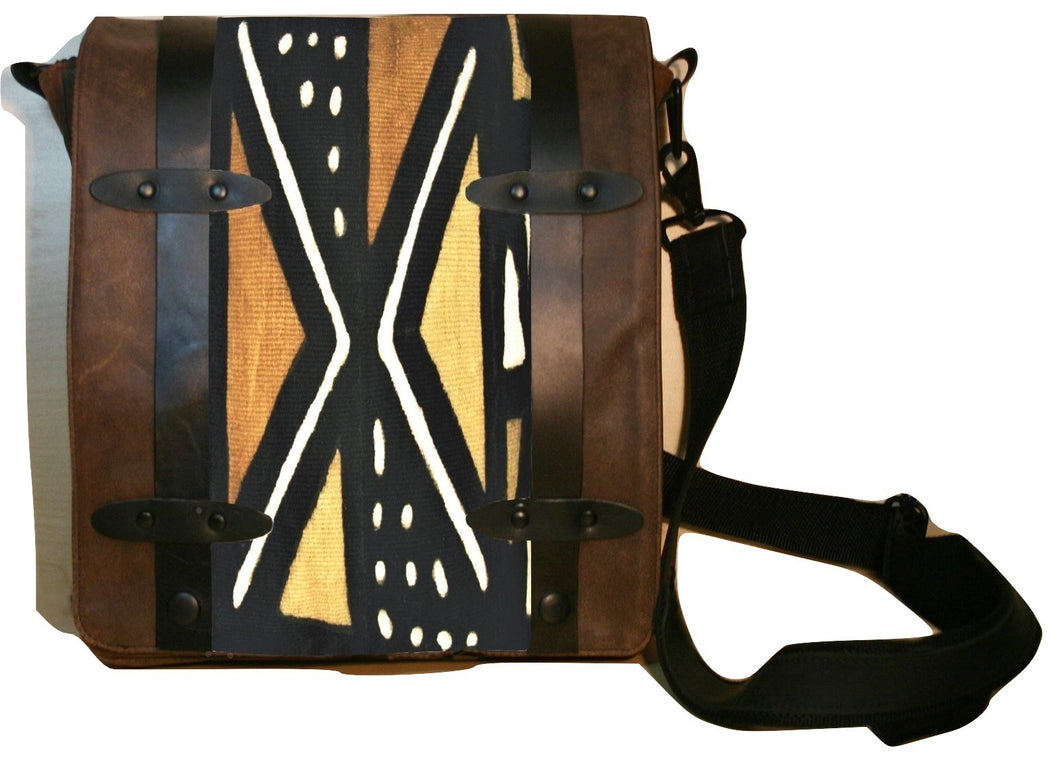 Messenger Bag in Custom Printed Leather