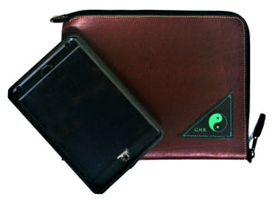 Leather Tablet/I-Pad Zip Pouch