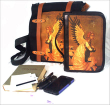 Bible Case Deluxe in Printed Fabric and Leather