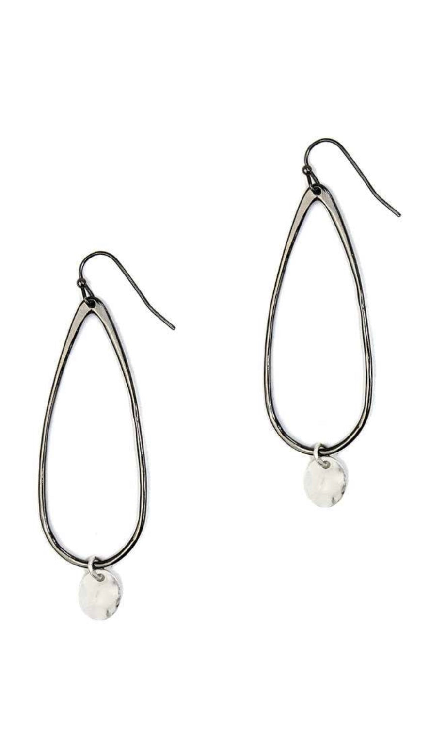 Teardrop Shape Coin Dangle Drop Earrings