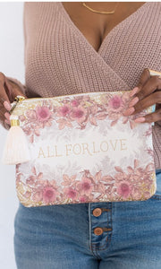 "Papaya White ""All For Love"" Pocket Clutch Bag"