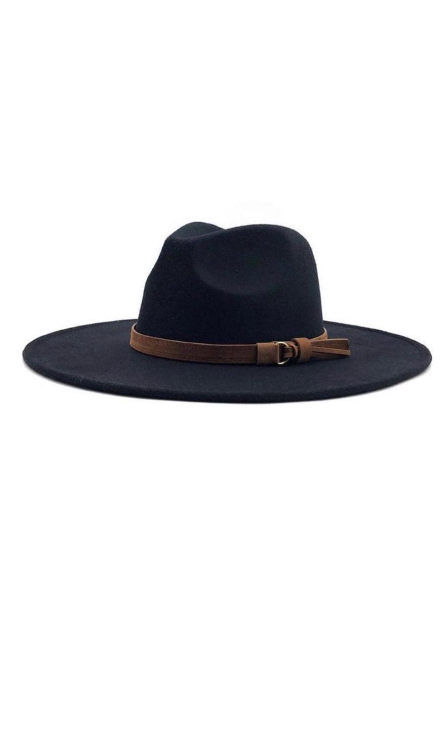 Calhan Black Wide Brim Dandy Panama Hat