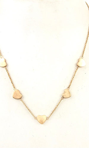 Loving Heart Station Worn Gold Necklace