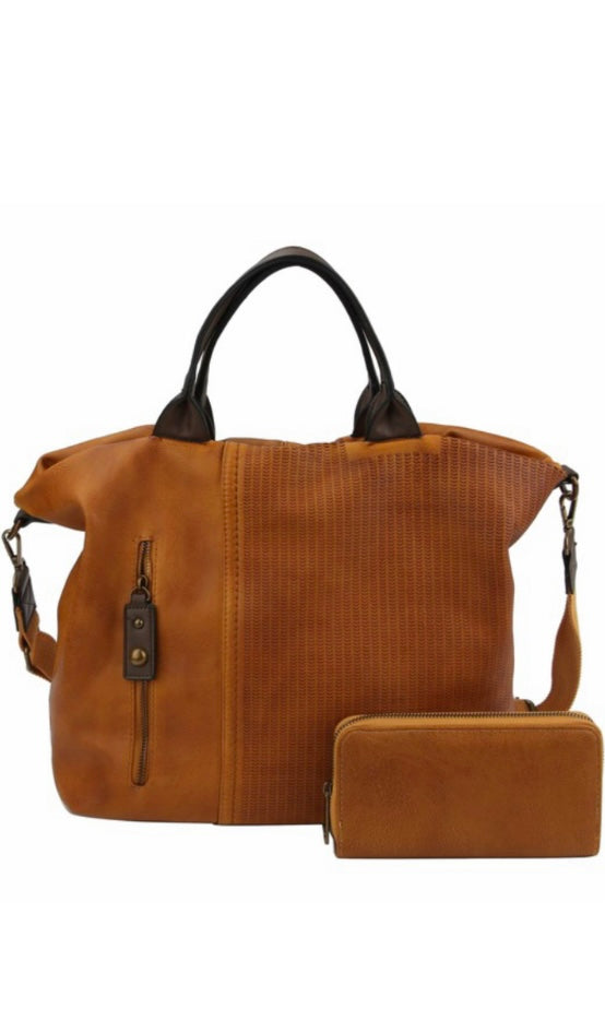 Belgium Mustard Vintage-Inspired Vegan Leather Satchel Bag