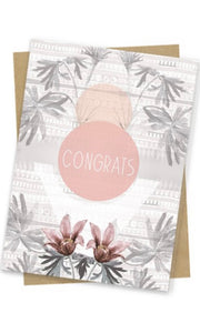"Papaya ""Mom, Thanks & Thinking""3x5 Gift Greeting Card"