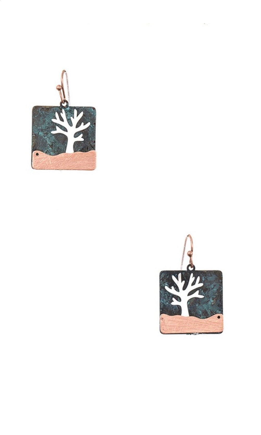 Tree of Life Cut-Out Dangle Earrings