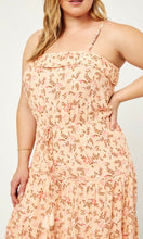 SALE! Arryl Blush Pink Floral Border Print Maxi Dress
