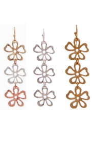 Cut-Out Flower Dangle Drop Earring