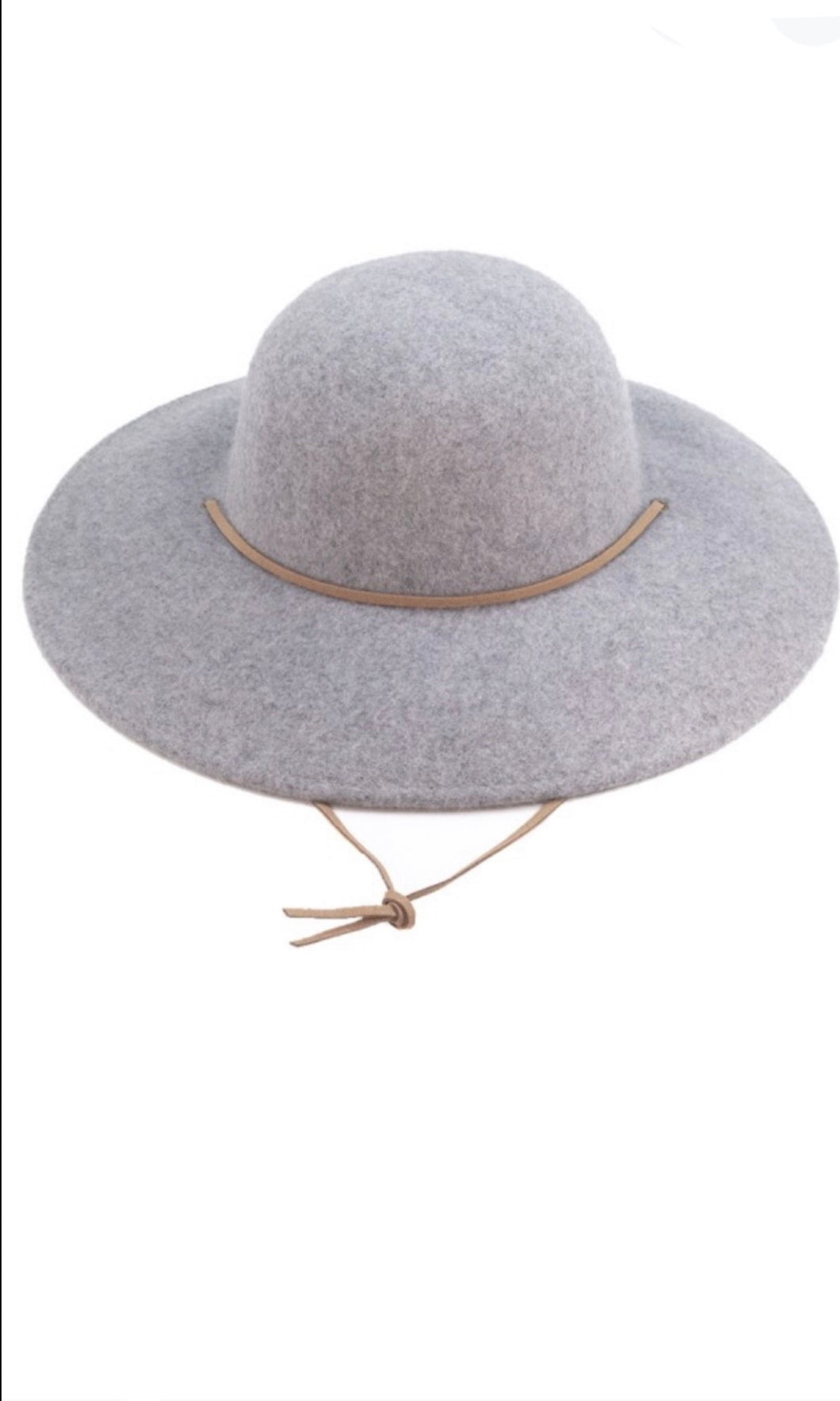 Collins Heather Grey Boho Floppy Wide Brim Hat