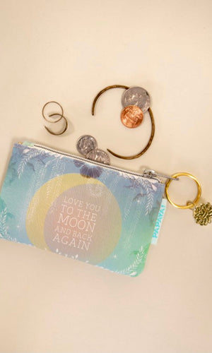 "Papaya Blue ""Love You To The Moon"" Coin Purse"