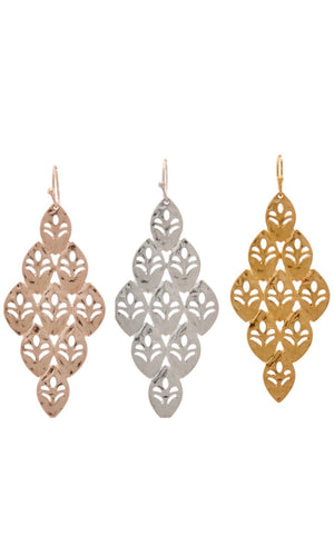 Shiny Metal Chandelier Shape Earring