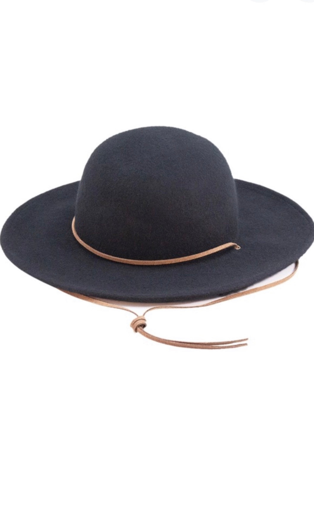Collins Black Boho Floppy Wide Brim Hat