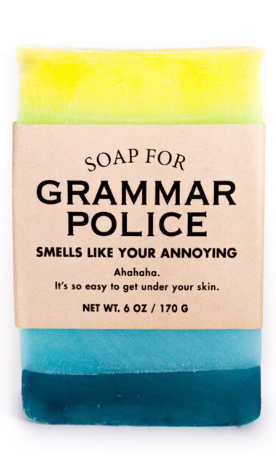 Whisky River Soap for Grammar Police