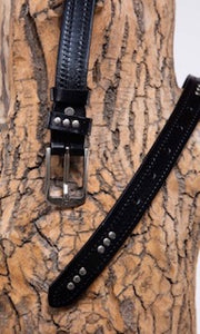 Collective Belts Black Vegan Leather Belt