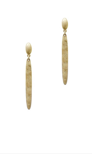 Fashion Gold Metal Stick Earrings