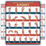 ASL american sign language alphabet abc chart poster