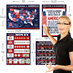 USA Charts 4 Pack LAMINATED Posters