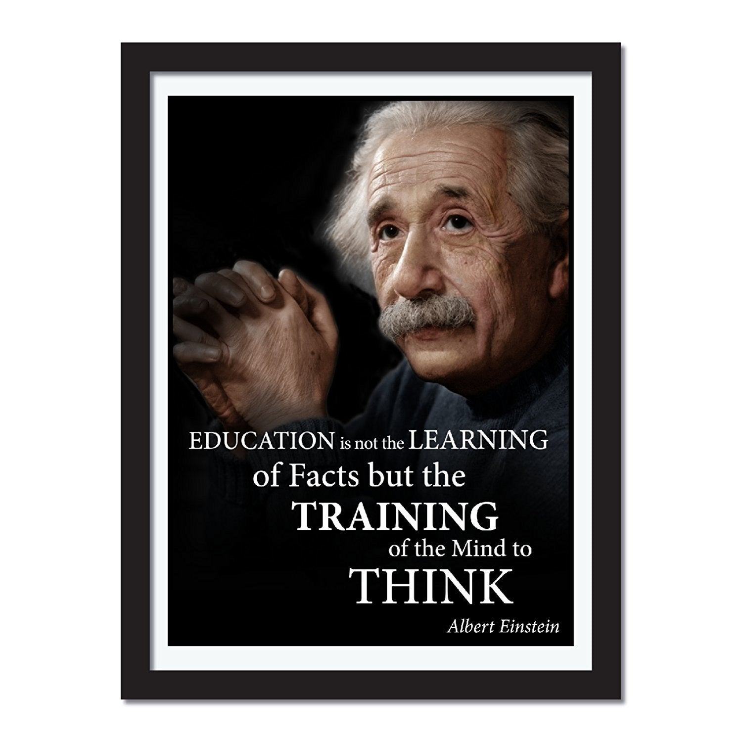 Albert Einstein education portrait poster quote print wall art - Young N' Refined