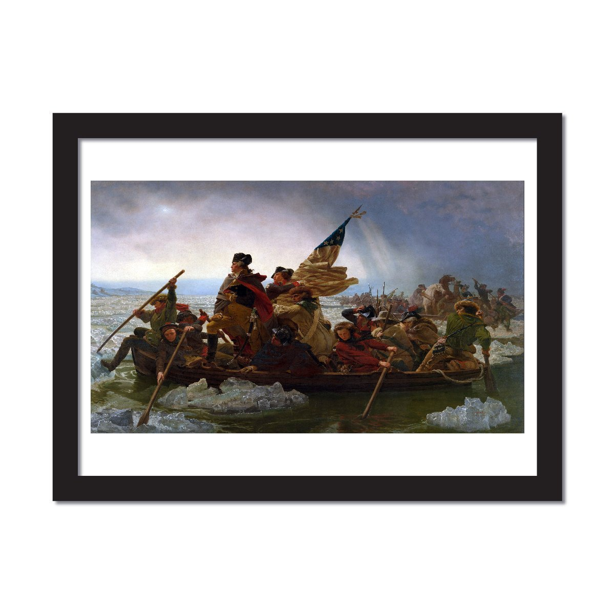 George Washington's crossing of the Delaware River oil painting reproduction print of national american patriotism - Young N' Refined