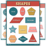 Learning Shapes Preschool Chart Matte Classroom Teacher Poster - Young N' Refined