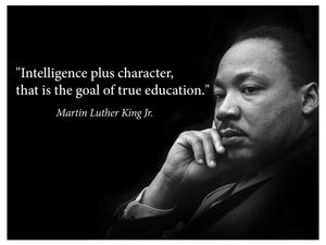 Martin Luther King Jr. Poster famous inspirational quote banner for classrooms education wall art photograph picture black history month famous African american hero activism teacher - Young N' Refined