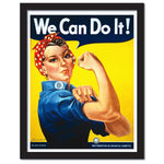 Feminist Icon Rosie The Riveter We Can Do It Home or Classroom Poster - Young N' Refined