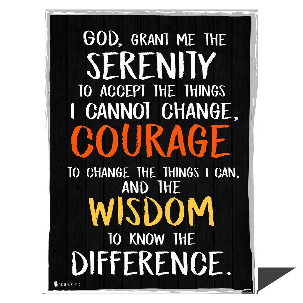 Serenity prayer wall art perfect for decorating kitchens homes bathrooms bedrooms hallways - Young N' Refined