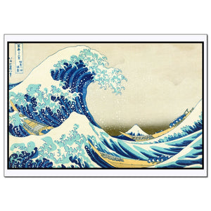 The Great Wave off Kanagawa print of painting famouse artwork by Katsushika Hokusai fine art decoration of wood block art - Young N' Refined