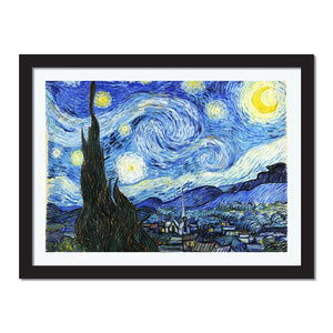 Starry Night by Van Gogh Wall Art Decoration-Oil Paint Reproduction - Young N' Refined
