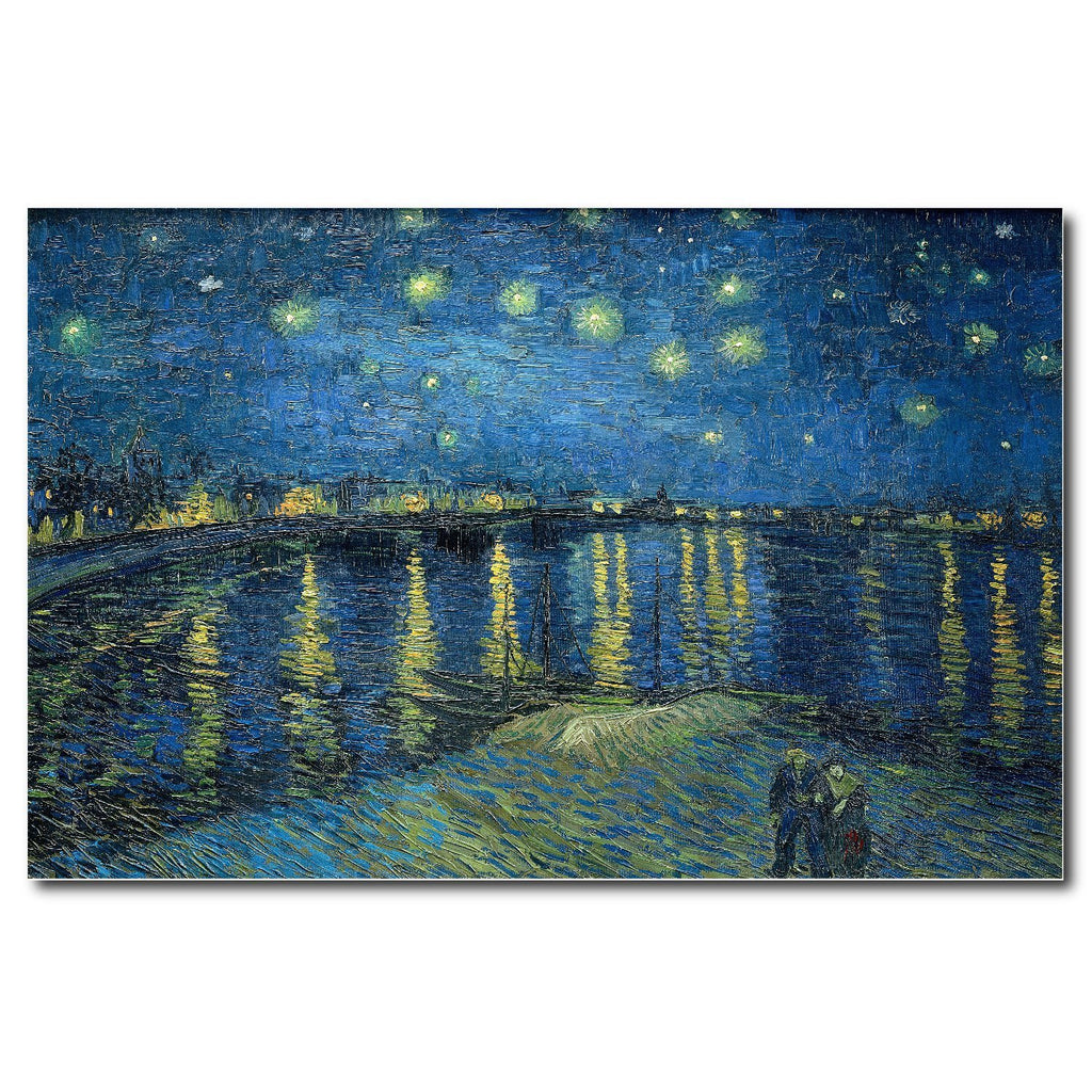 Starry Night Over the Rhone by Van Gogh Oil Paint Reproduction Print - Young N' Refined