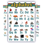 Learning Alphabet ABC Chart White Laminated Classroom Poster - Young N' Refined