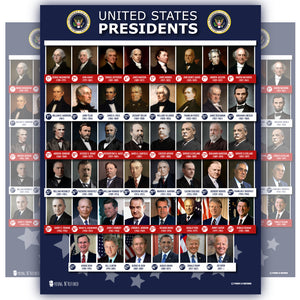United States Of America Presidents Poster Blue