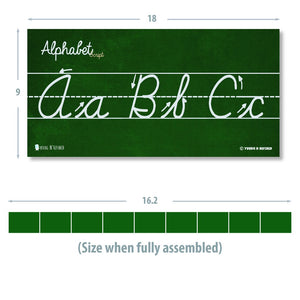 Cursive Alphabet Classroom Wall Strip Laminated