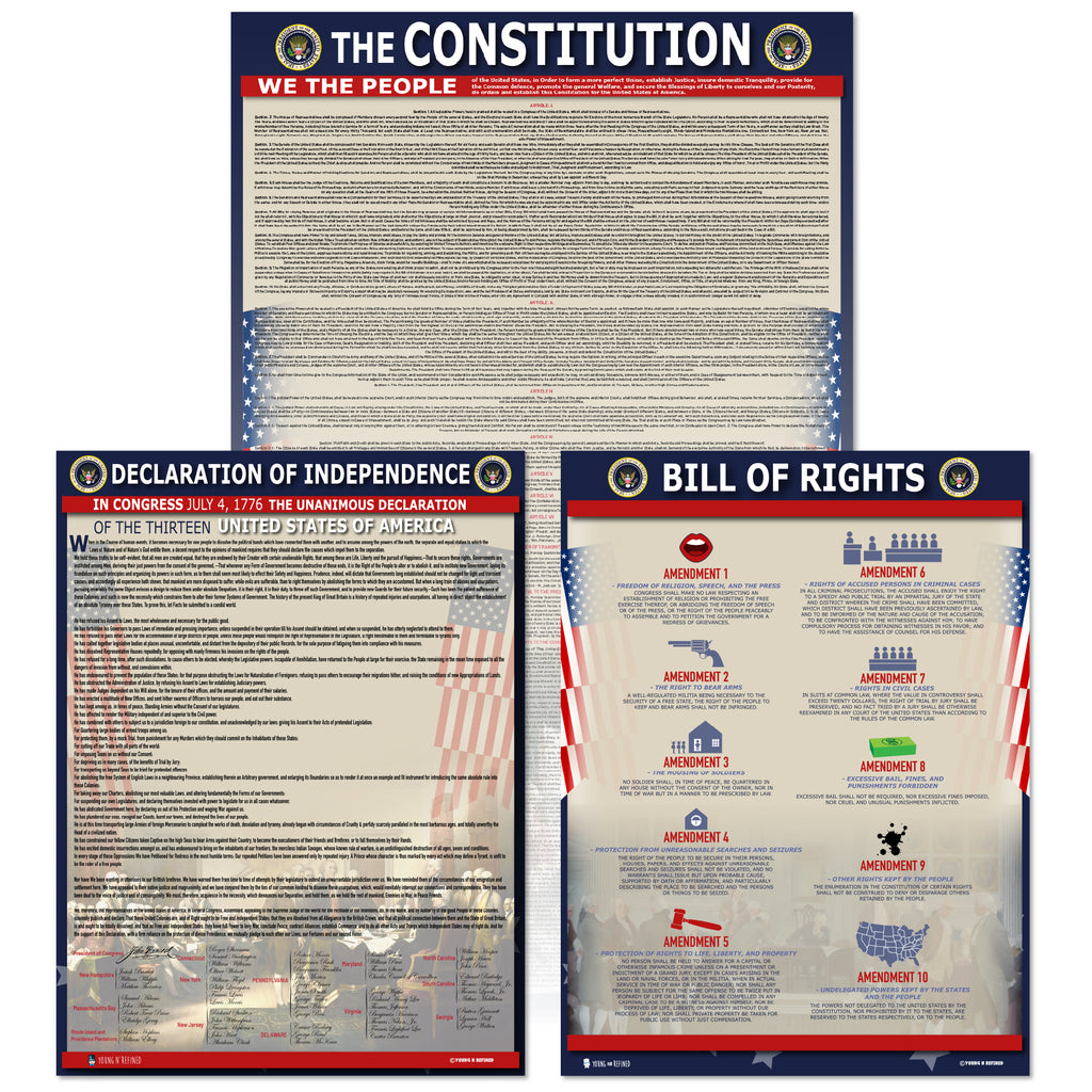 American Founding documents Laminated 3 pack