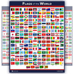 World Flags Educational Poster for kids