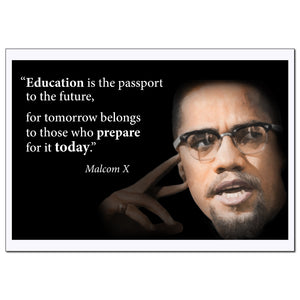 Motivational Malcolm X Quote Poster - Young N Refined