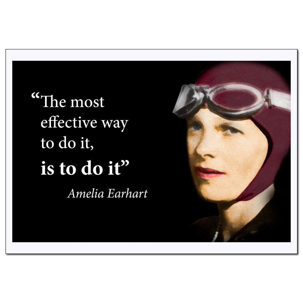 Amelia Earhart Inspirational Women Poster Quote - Young N Refined