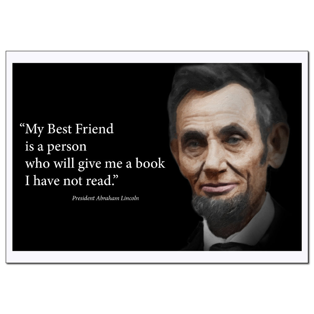 Abraham Lincoln Inspirational Quotes Poster - Young N Refined