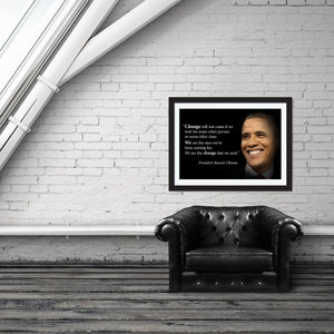 Barack Obama Poster Motivational Quote -  Young N Refined