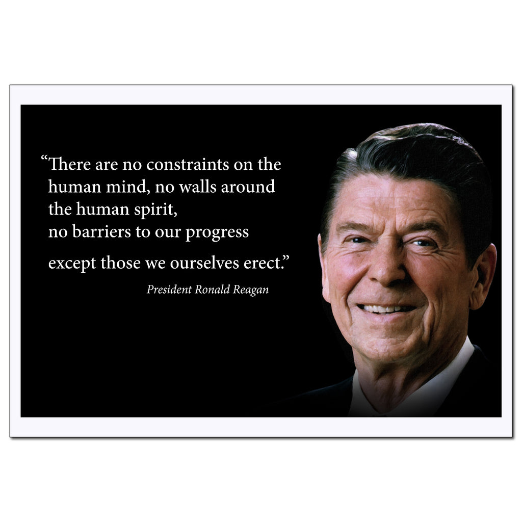 Ronald Reagan Quote Poster Motivational - Young N Refined